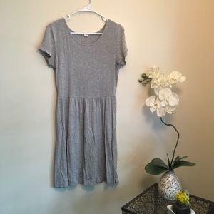 Old Navy◽️Gray Cotton Midi Dress